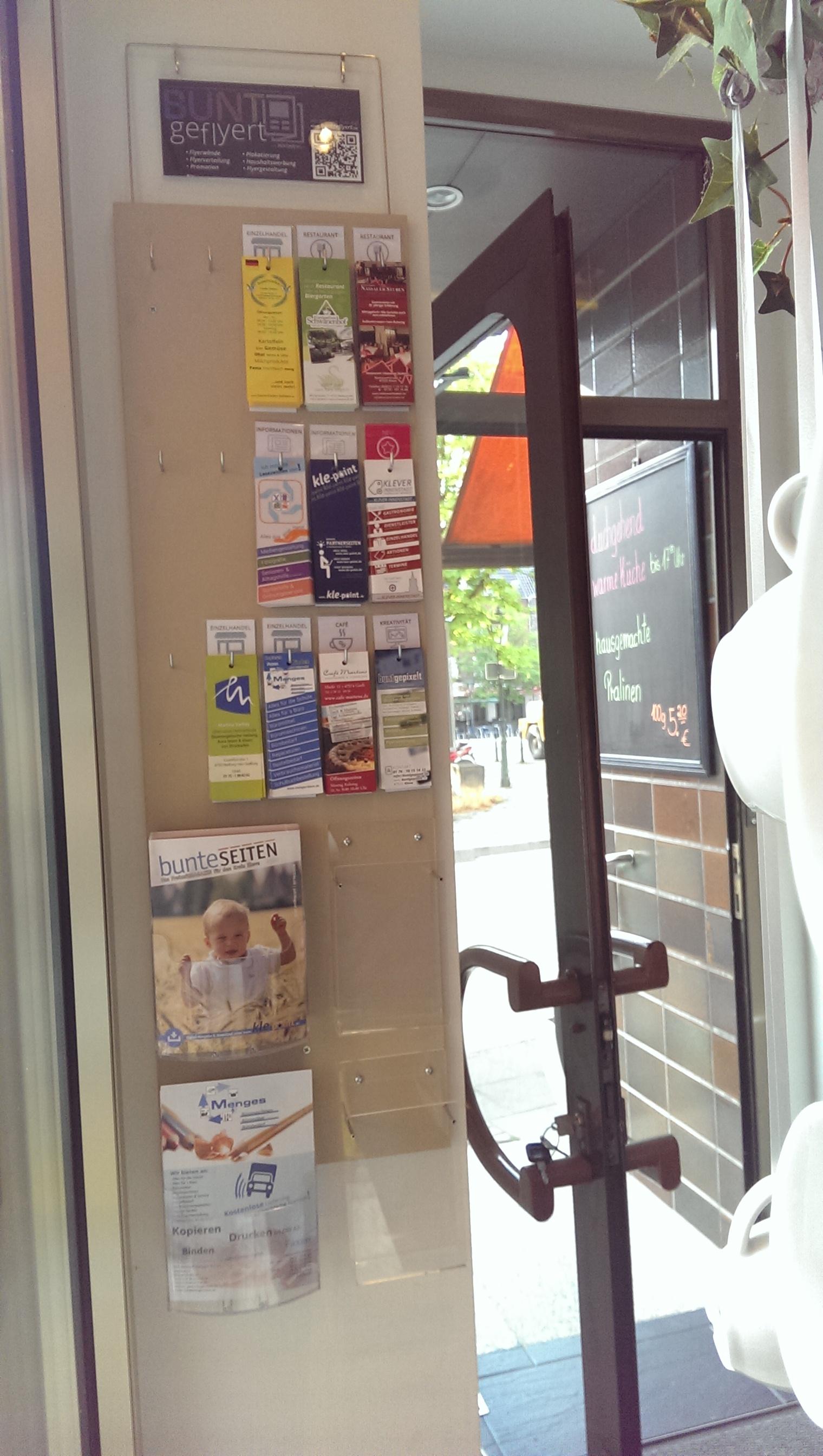 FLYERWAND: Café Martens, Goch